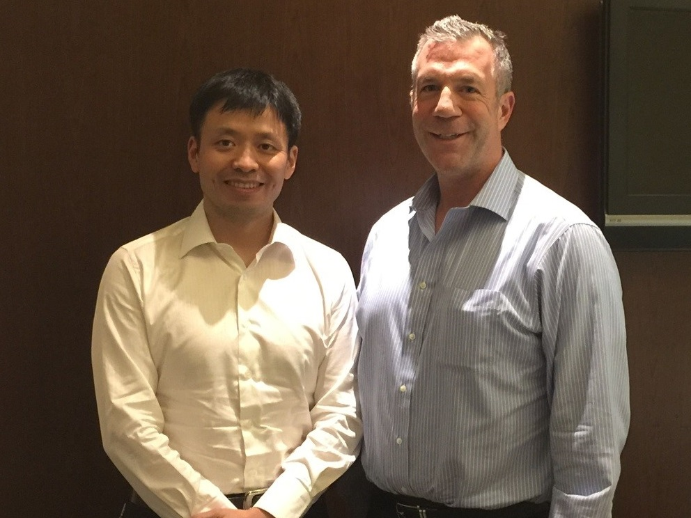 Mark Schlarbaum with Chinese Executive
